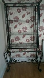 Metal and Glass Display Unit (reduced from £45)