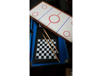 6 in 1 table game set ( football, table tennis, pool, chess, backgammon, air hockey)
