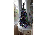 3ft Pre Lit Christmas Tree & Decorations