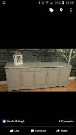 Large solid shabby chic sideboard