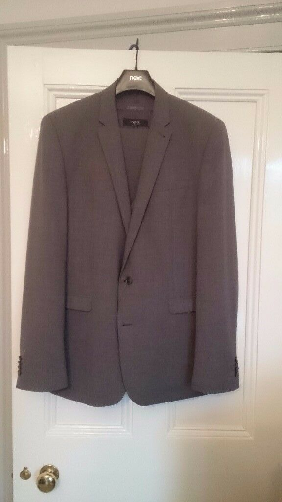 REDUCED* Next 3 piece grey wool suit, only worn a couple of times.