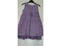 Pretty Lilac Spotty Mini Mode Dress 18-24mths
