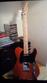 Fender Squier Telecaster Electric Guitar & Fender Amp
