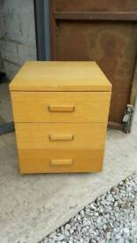 wooden 3 draw very heavy & sturdy Collection only £20