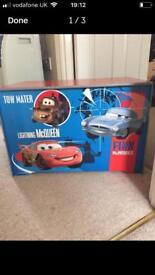 Disney cars wooden toy box