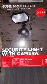 Home Protector Security Light with Camera