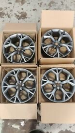 "GENUINE JAGUAR F-TYPE 20"" STORM GREY ALLOY WHEELS SET OF FOUR BRAND NEW"