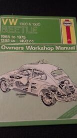 HAYNES VW 1300 & 1500 OWNERS WORKSHOP MANUAL ALL MODELS 1965 - 1975