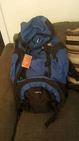 Large blue and black ruck sack