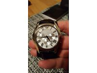 Gents Emporio Armani AR0669 Leather Strap Chronograph watch