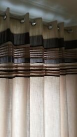 EYELET CURTAINS x 2 PAIRS