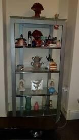 Silver Showcase Cabinet