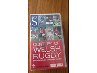 Signed copy of Century of WelshRugby Twin VHS Tapes presented by Jonathan Davies