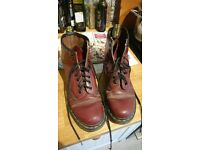 Dr Martens boots, cherry red, size 6/7 (?)