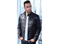NEW GENUINE HUGO BOSS LEATHER JACKET MERCEDES FORMULA 1