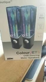 USB Coloured Dancing Water Speakers