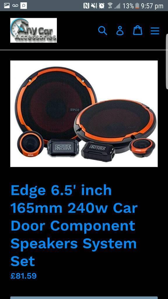 Edge 240w car speakers