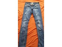 River Island straight leg denim ripped jeans, size 6, wanting £10