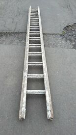 13 rung 2 piece wood extension ladder