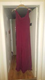 Burgundy Debut at Debenhams Dress Size 12