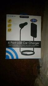 Four USB Car Charger - New Boxed Item