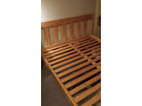 Quality Pinewood King Size Modern Bed Frame Only For Sale Bargain