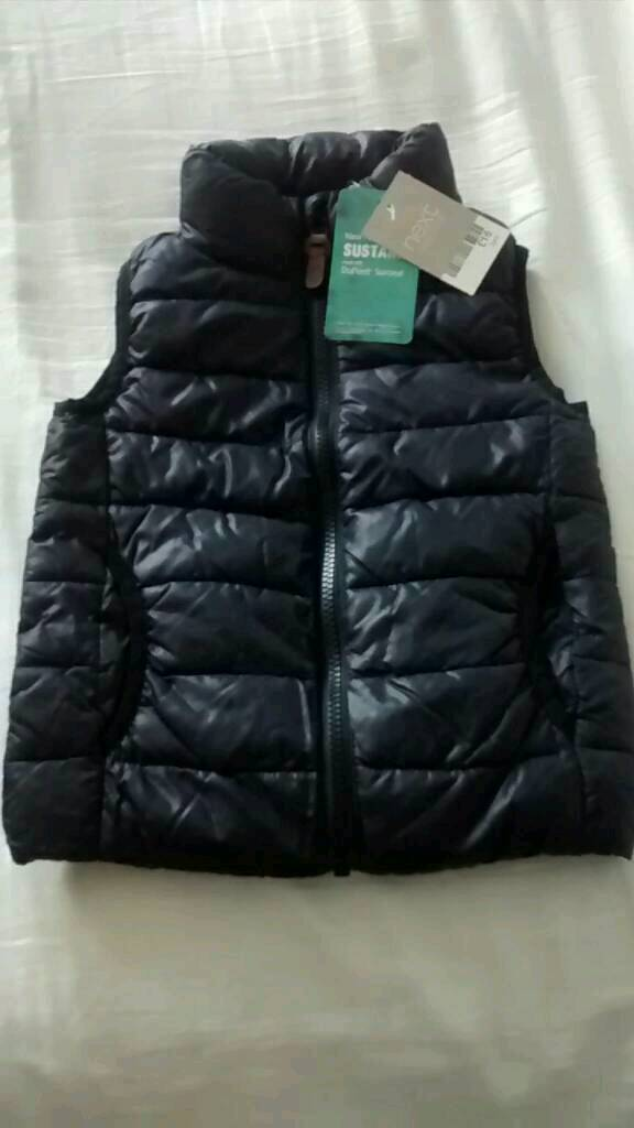 Next brand new with tags navy blue body warmer gillet age 3 years