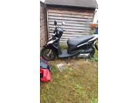 Honda NSC110 moped. One years mot. Cover, lock and helmet included. Good condition