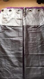 Silver/Grey Eyelet Curtains