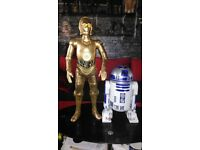 "Star Wars 31-Inch C-3PO AND Jakks Pacific Star Wars R2-D2 Electronic Deluxe 18"" Action Figure"