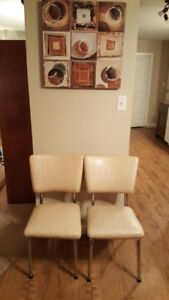 2 Mid Century Vinyl & Steel Chairs - FREE DELIVERY