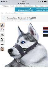 Large soft dog muzzle