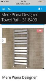 Brand new piana mere designer chrome towel rail....RRP £360