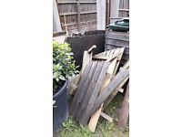 Fence panels wood