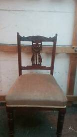 4x vintage chairs