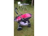 iCandy Strawberry Pram with Cot and all Accessories