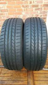 205/60/16 tyres .pair of goodyear efficient grip
