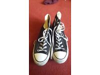 Converse (men's size 11) in black and white
