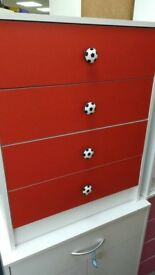NEW Red/White Football Drawers