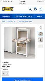 Nursery furniture changing table shelf unit baby kids