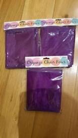 Wedding Chair Bows Purple
