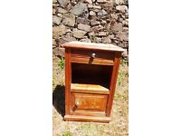 Vintage Retro French Bedside Table Cabinet - Chest Of Drawers Art Deco (8)