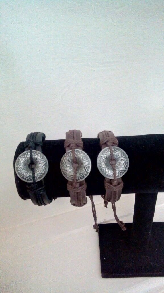 Leather pirates bracelets new four in total