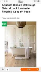 12 new packs of quickstep aquanto beige oak effect laminate flooring