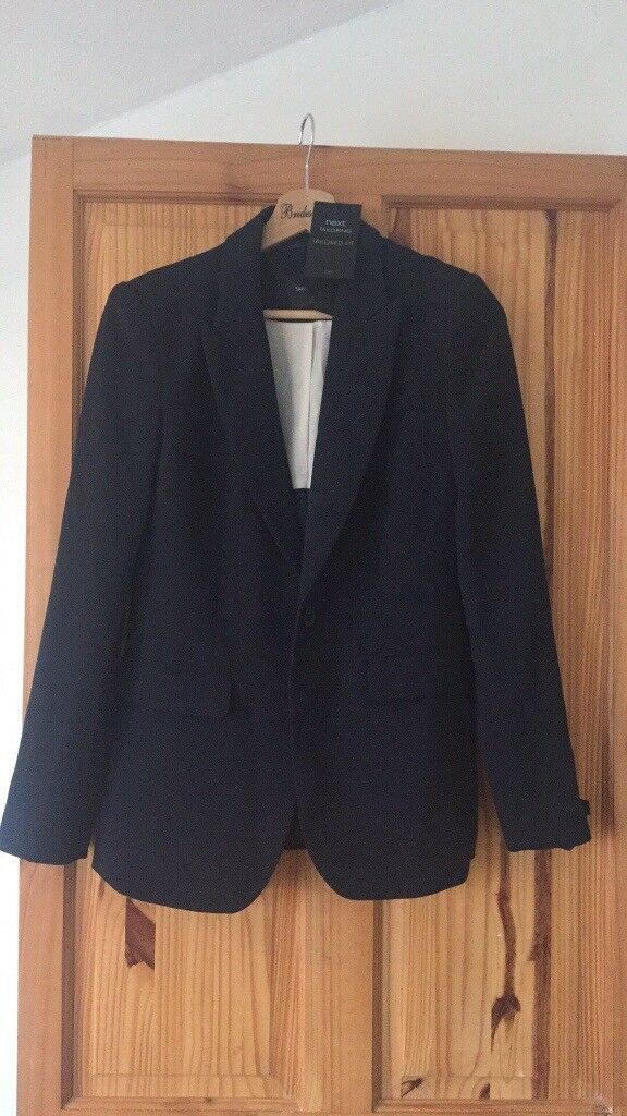 Next Navy Tailored Fit Suit Jacket Size 8 BNWT