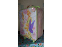 Disney Tinkerbell Suitcase with extending handle and wheels (used)