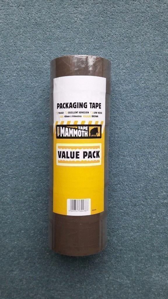 MAMMOTH packaging tape value pack: Brand new still