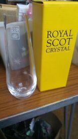 royal scot crystal vase