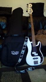 New model Squier Affinity pj bass guitar