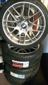 """19"""" BMW CSL STYLE ALLOY WHEELS / TYRES - NEW"""